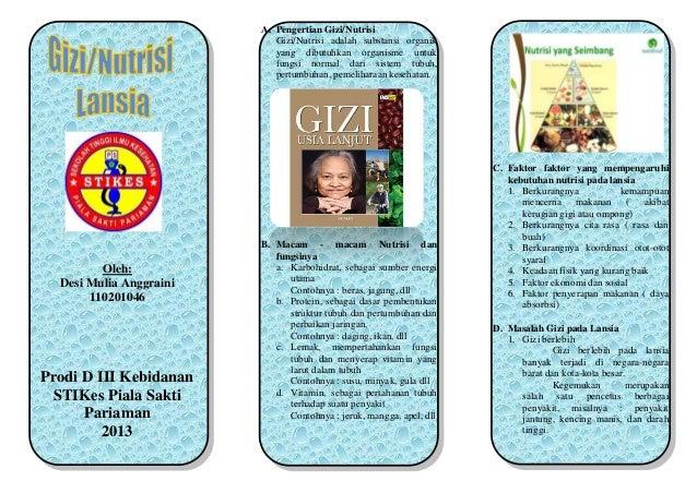 SAP dan leaflet Gizi Buruk