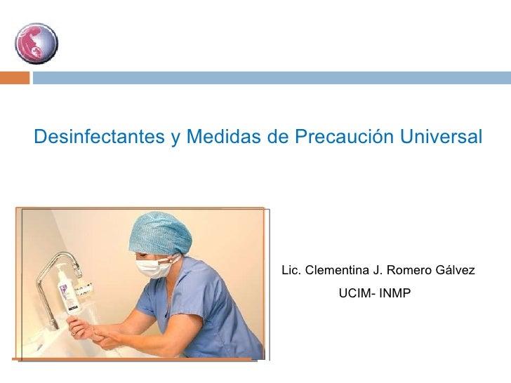 Desinfectantes y precausión universal