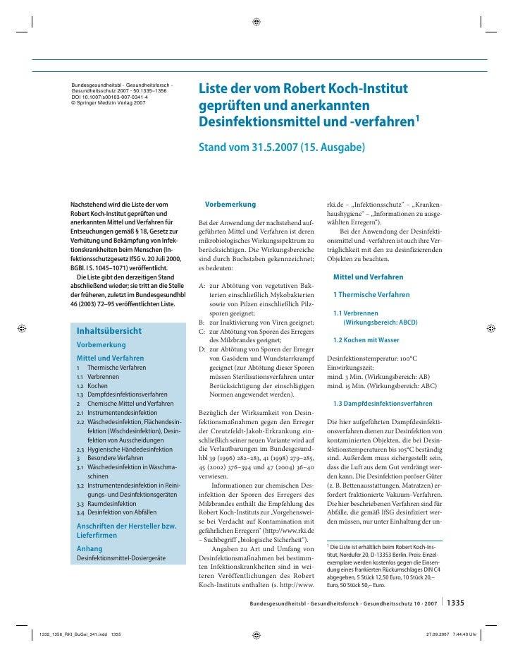 Bundesgesundheitsbl - Gesundheitsforsch -Gesundheitsschutz 2007 · 50:1335–1356DOI 10.1007/s00103-007-0341-4               ...