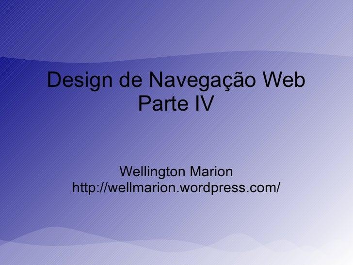 Desing de navegação web parte IV