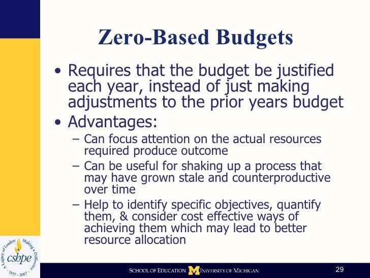 Institutional Budgeting at Michigan