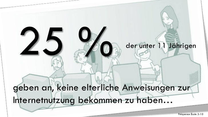 25 %                     der unter 11 Jährigengeben an, keine elterliche Anweisungen zurInternetnutzung bekommen zu haben…...