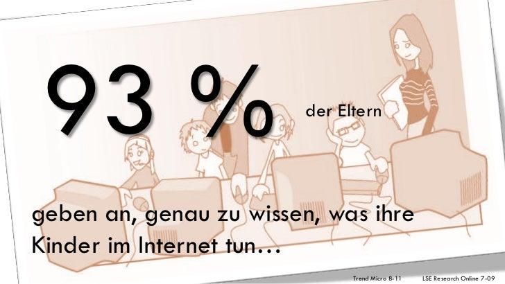 93 %                   der Elterngeben an, genau zu wissen, was ihreKinder im Internet tun…                              T...