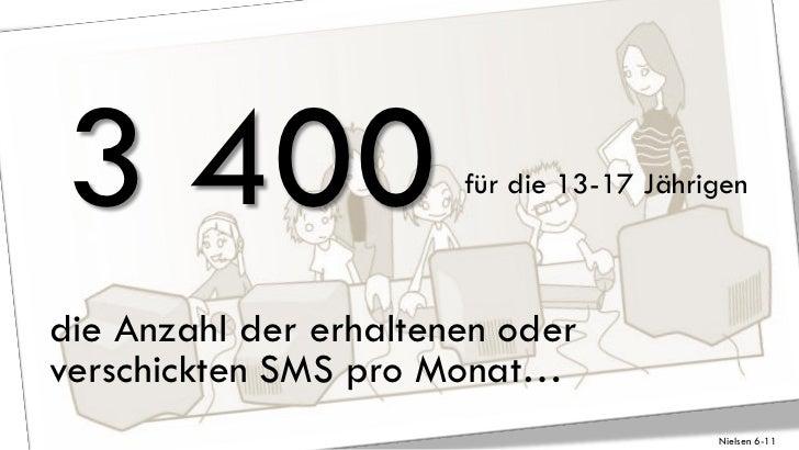 3 400                  für die 13-17 Jährigendie Anzahl der erhaltenen oderverschickten SMS pro Monat…                    ...