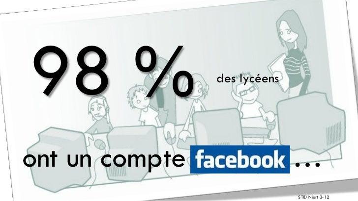 98 %            des lycéensont un compte                 …                              STID Niort 3-12