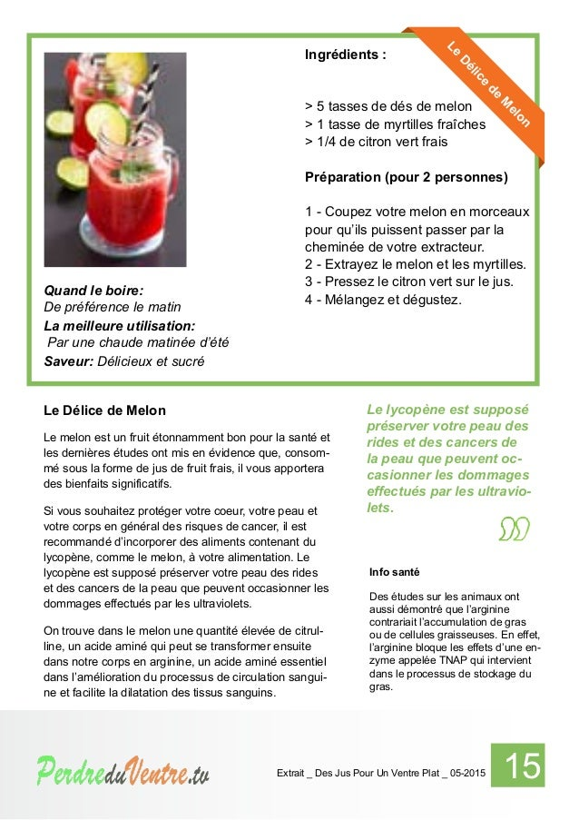 Des jus pour un ventre plat . TV _ extrait_05-2015