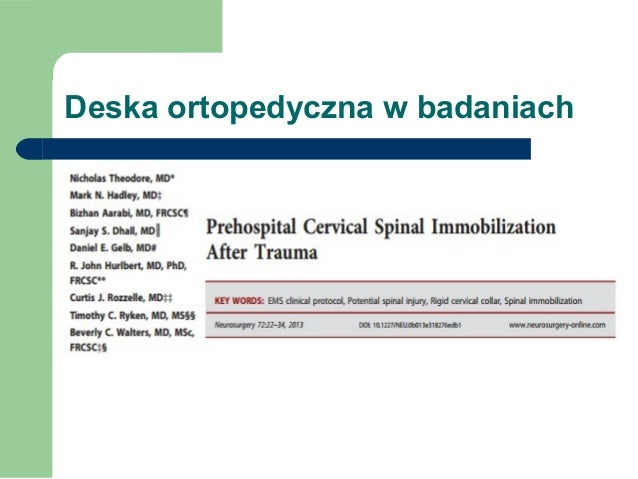 Deska ortopedyczna w badaniach naukowych Slide 3
