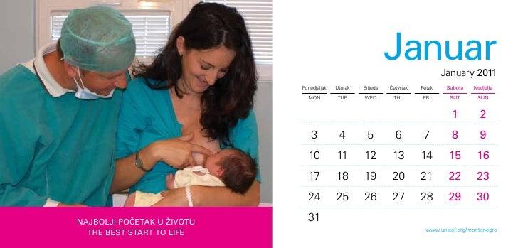 Desk calendar 2011 UNICEF Montenegro Slide 3