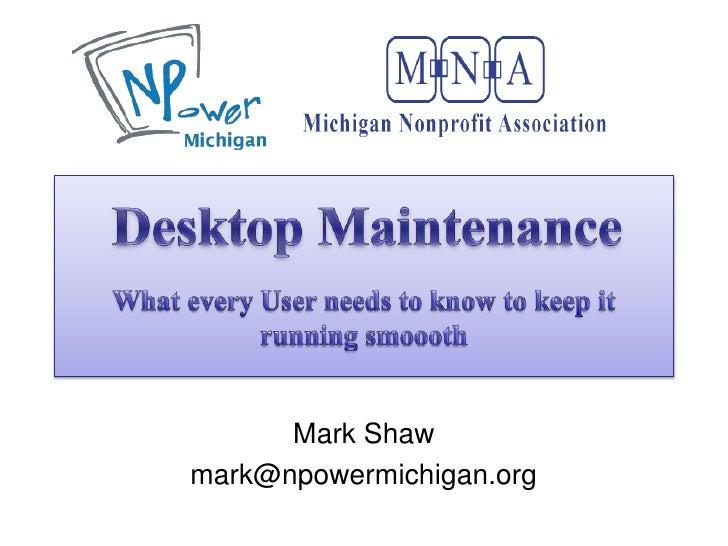 Mark Shaw mark@npowermichigan.org