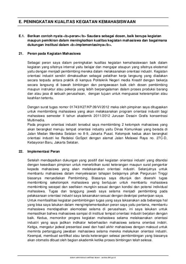 Deskripsi Diri Serdos 2014 Agung Budi Prasetyo