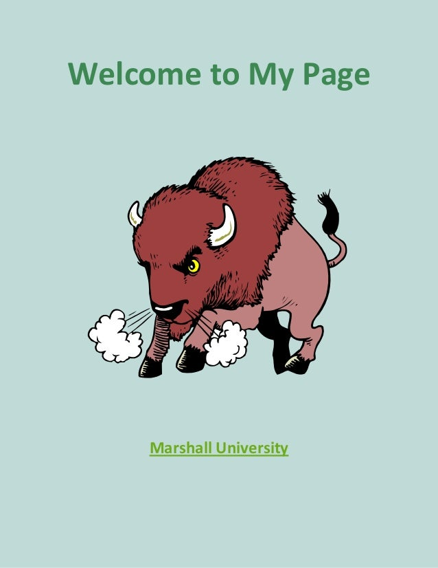 Welcome to My Page  Marshall University