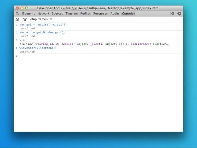Desktop apps with node webkit