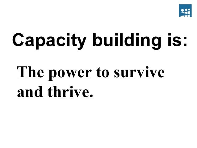Welcome To Capacity Building.ppt