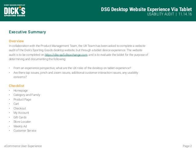 Desktop on Tablet UX Audit Slide 2