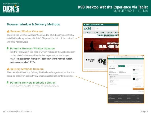 Desktop on Tablet UX Audit Slide 3