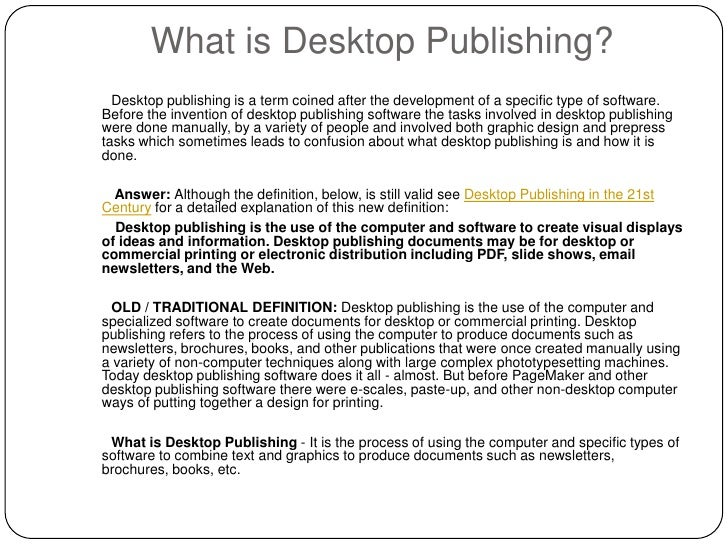 the desktop publishing dtp computer science essay Test your knowledge of desktop publishing and word processing software, and  the features of both, with a  desktop publishing & word processing software:  ms word, indesign & wordperfect  what does dtp stands for  computer  operating systems: managing hardware and software resources 7:56 os  functions:.