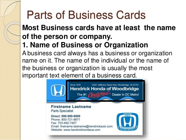 Desktop publishing business card 3 parts of business cards colourmoves