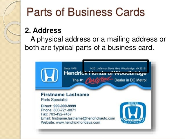 Desktop publishing business card 4 parts of business cards colourmoves