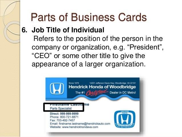 Desktop publishing business card 8 parts of business cards colourmoves