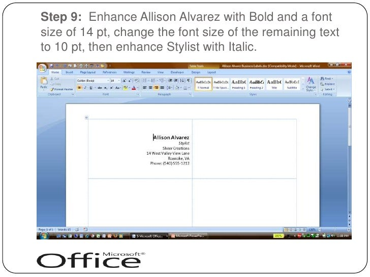 How to make a business card in word word how to create custom how to create business cards on microsoft word 2007 youtube reheart Choice Image