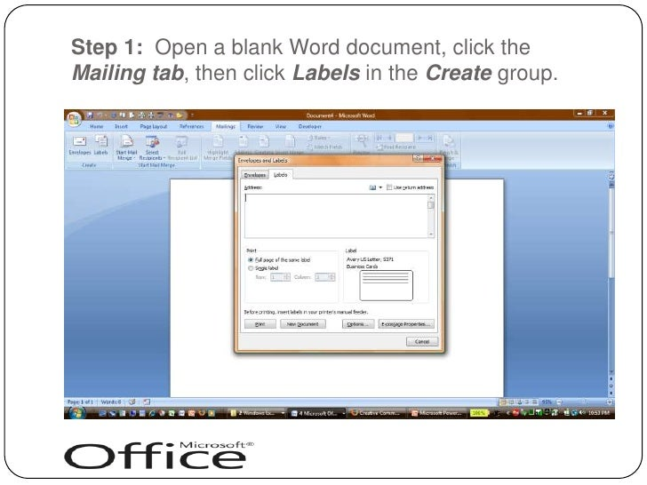 Creating business cards with word 2007 create business cards in word 2007br 2 reheart Gallery