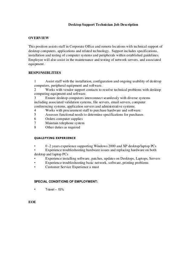 Desktop Support Job Description Isla Nuevodiario Co