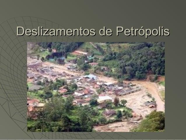 Deslizamentos de Petrópolis