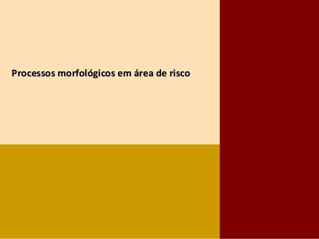 Processos morfológicos em área de riscoProcessos morfológicos em área de risco
