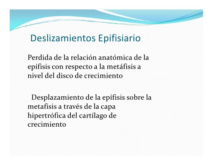 Deslizamientos epifisiarios Slide 2