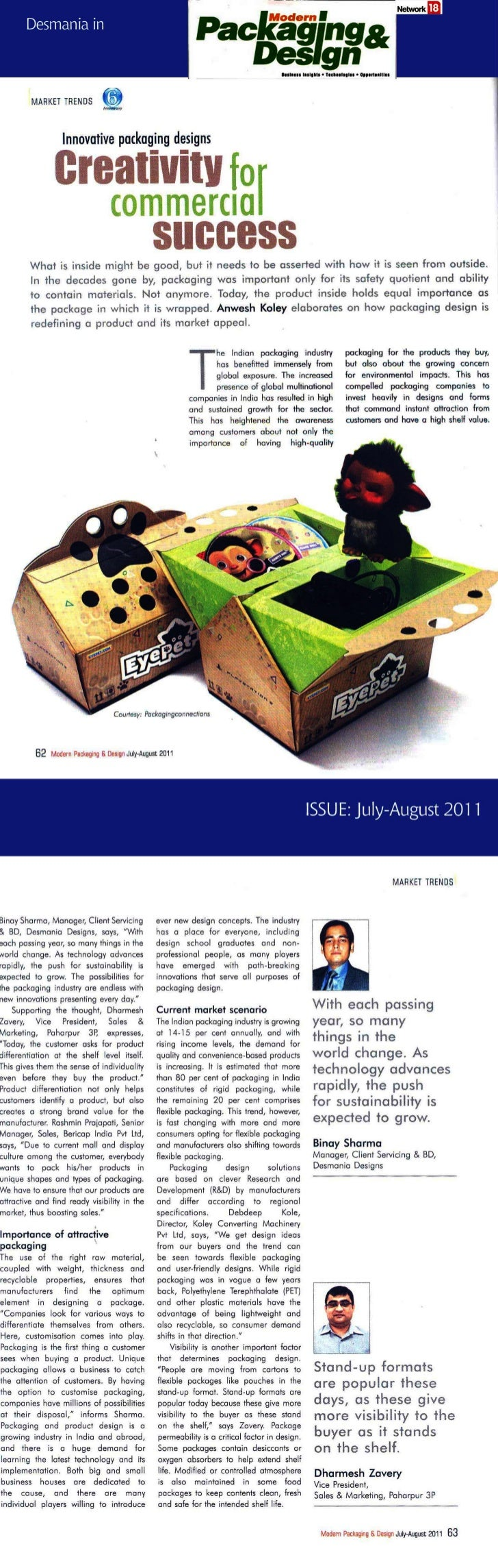 Binay in modern Packaging & Design