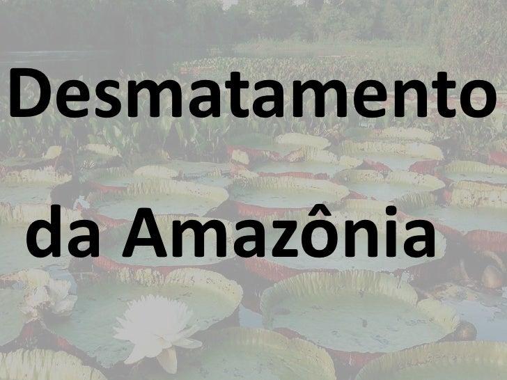 Desmatamento da Amazônia<br />