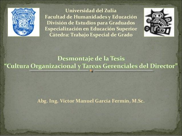 Universidad del Zulia   Facultad de Humanidades y Educación    División de Estudios para Graduados   Especialización en Ed...