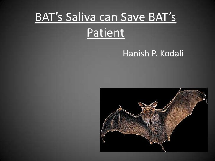 BAT's Saliva can Save BAT's          Patient                Hanish P. Kodali