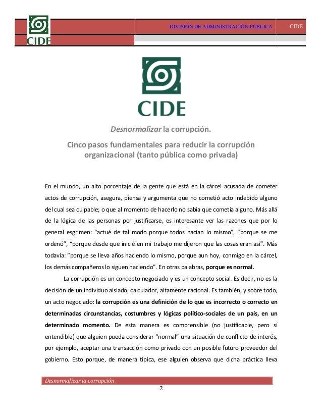 Desnormalizar la corrupción- David Arellano Slide 2