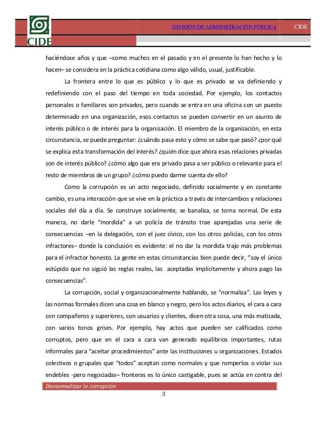 Desnormalizar la corrupción- David Arellano Slide 3