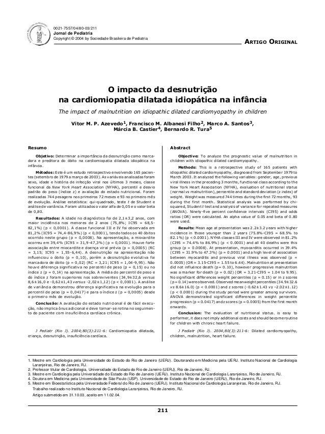 0021-7557/04/80-03/211              Jornal de Pediatria              Copyright © 2004 by Sociedade Brasileira de Pediatria...