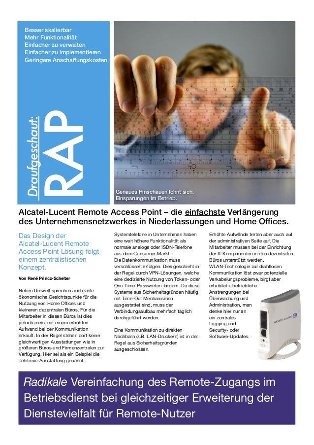 Radikale Vereinfachung des Remote-Zugangs im Betriebsdienst bei gleichzeitiger Erweiterung der Dienstevielfalt für Remote-...