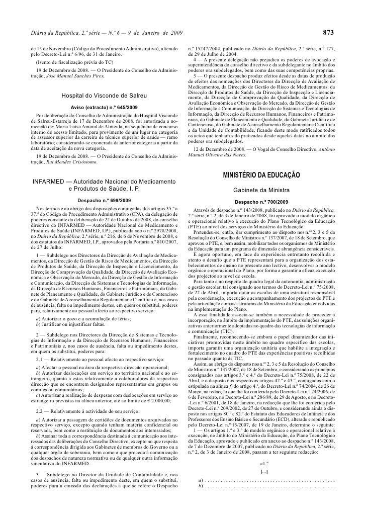 Diário da República, 2.ª série — N.º 6 — 9 de Janeiro de 2009                                                             ...