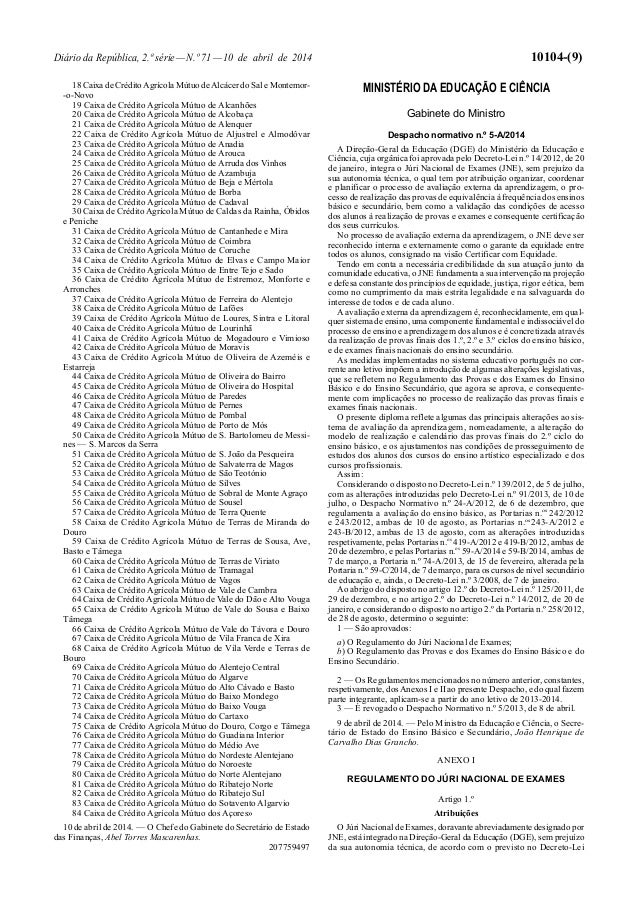 Diário da República, 2.ª série—N.º 71—10 de abril de 2014 10104-(9) 18 Caixa de CréditoAgrícola Mútuo deAlcácer do Sal e M...