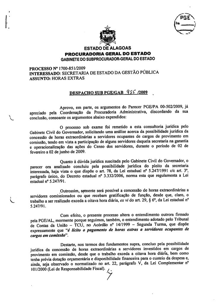 Despacho sub pge gab 955-2009