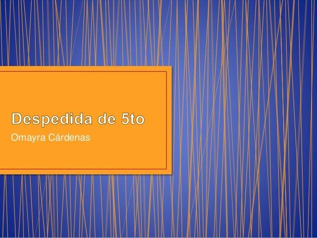 Omayra Cárdenas