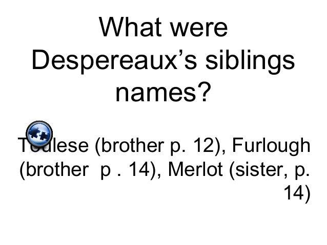 Despereaux quiz