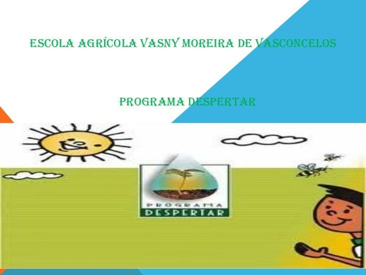 Escola agrícola Vasny MorEira dE VasconcElos            PrograMa dEsPErTar
