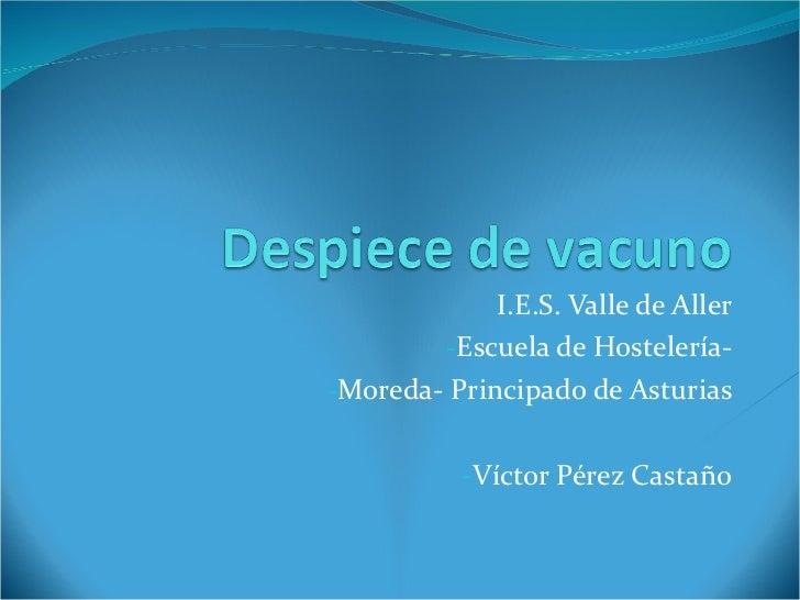<ul><li>I.E.S. Valle de Aller </li></ul><ul><li>Escuela de Hostelería- </li></ul><ul><li>Moreda- Principado de Asturias </...