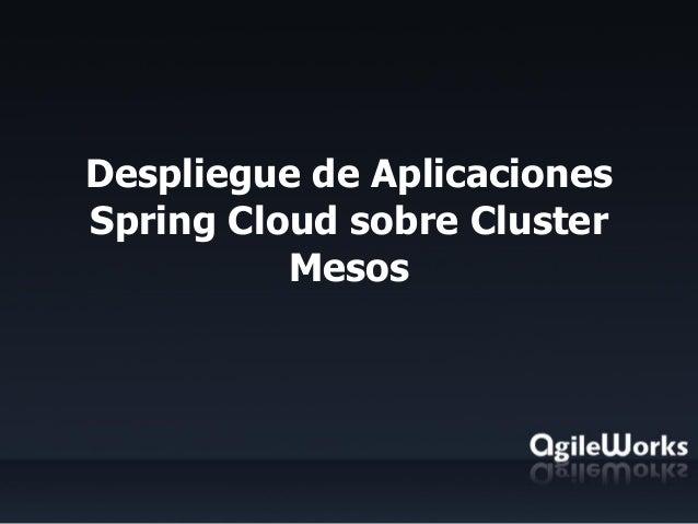 Despliegue de Aplicaciones Spring Cloud sobre Cluster Mesos