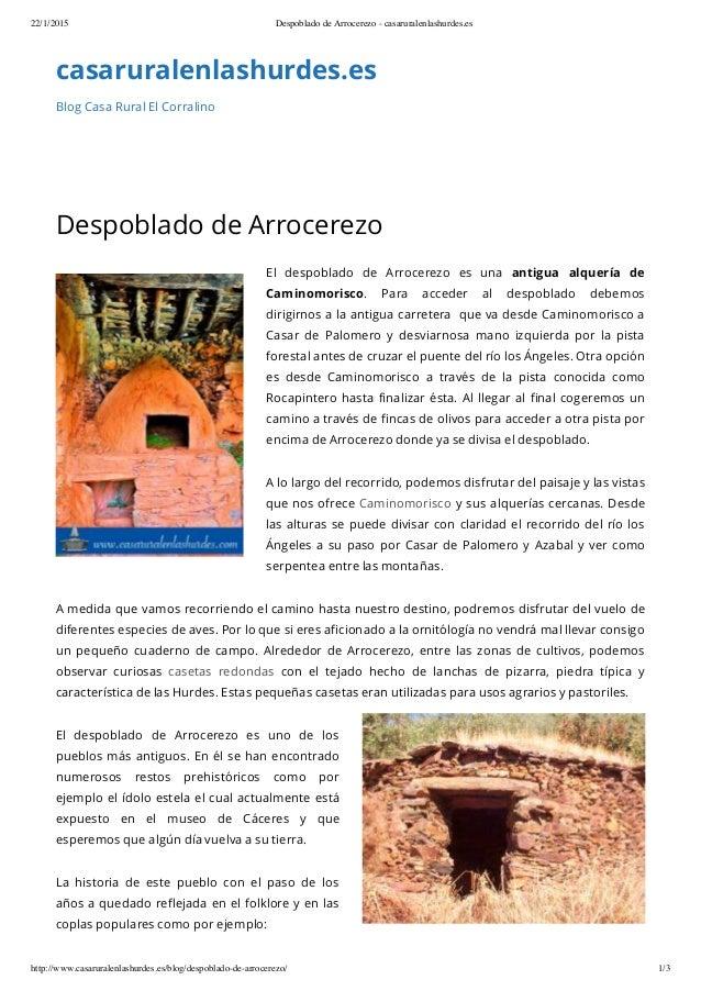 22/1/2015 Despoblado de Arrocerezo - casaruralenlashurdes.es http://www.casaruralenlashurdes.es/blog/despoblado-de-arrocer...