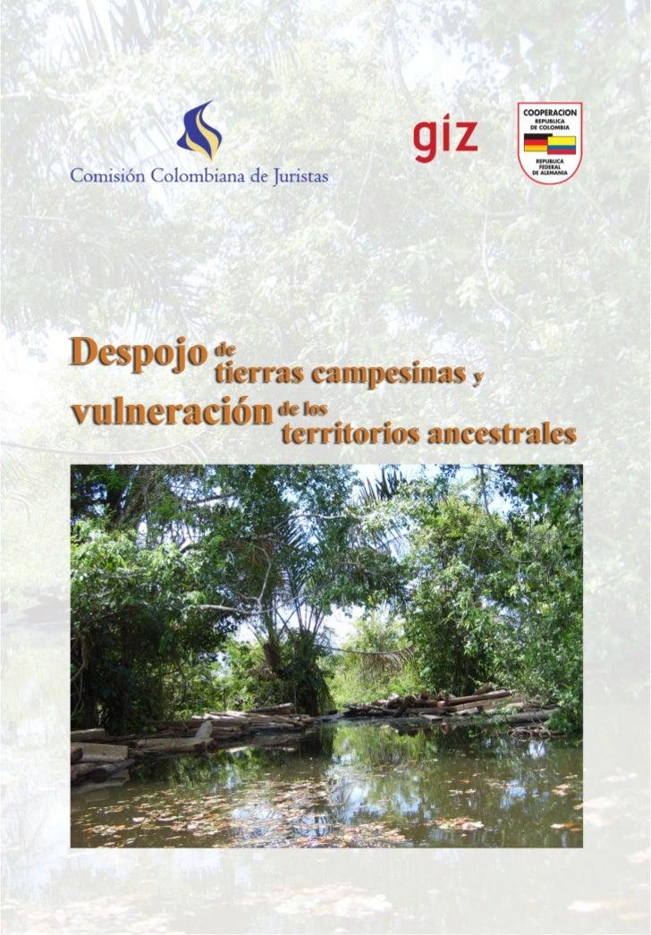 Despojo tierras campesinas y        de vulneración de los                territorios ancestrales