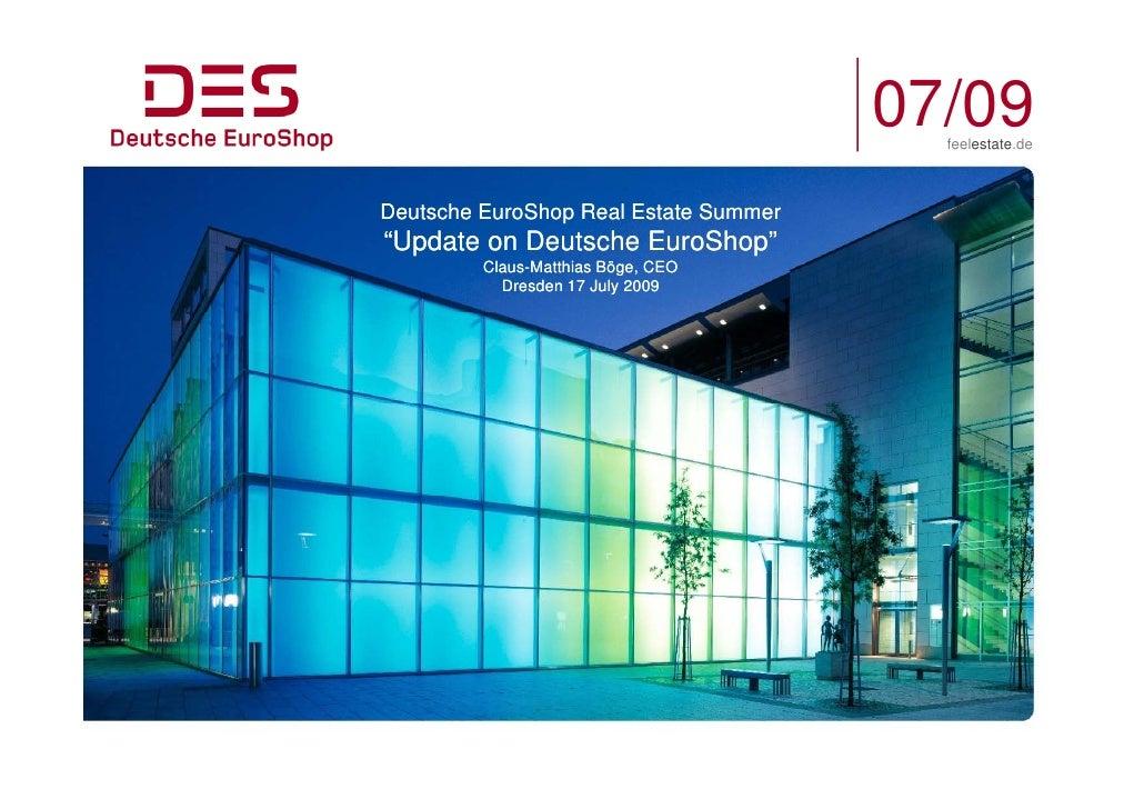"07/09                                          feelestate.de    Deutsche EuroShop Real Estate Summer                 p ""Up..."
