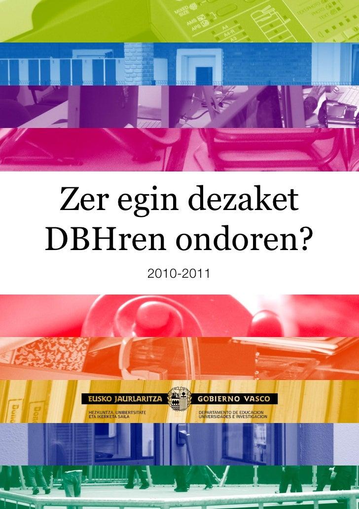 Zer egin dezaket DBHren ondoren?       2010-2011