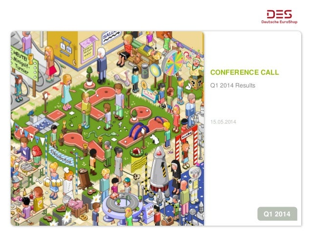 CONFERENCE CALL Q1 2014 Results 15.05.2014 Q1 2014